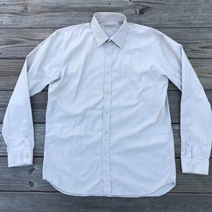 Burberry London Men Shirt Button Down Beige Casual